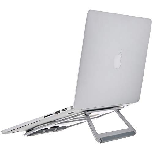 """AmazonBasics - Soporte plegable de aluminio para ordenador portátil de hasta 15"""", Plateado"""