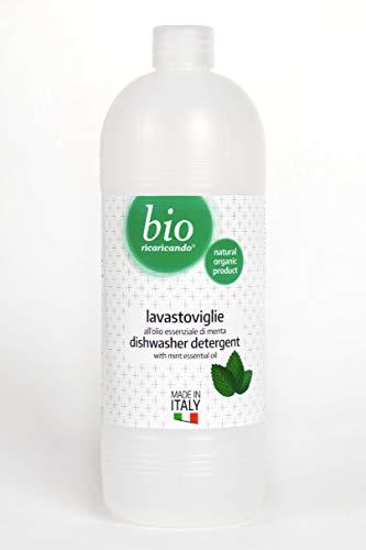 RICARICANDO - Gel Lavastoviglie - 1 L - All'Olio Essenziale di Menta - Biologico - No OGM - Prodotto...