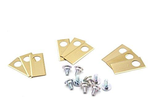 vhbw 9X Cuchillas de Corte 0,75mm de Recambio de Titanio para Hilo de su Robot cortacésped Honda Miimo Mähroboter, etc Miimo 310, Miimo 520.