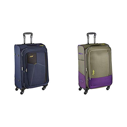 Skybags Footloose Rubik Polyester 680 mm Blue Softsided Check-in Luggage + Footloose Romeo Polyester 68 cms Grey Softsided Suitcase (STRUW68EBLU + STROW68EGRY)