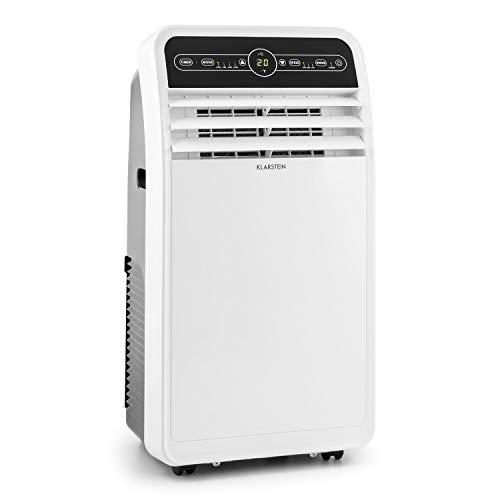 KLARSTEIN Metrobreeze 9 New York 2019 Edition - 3 en 1, Climatiseur, Ventilateur, Déshumidificateur, 9000 BTU/h, Minuterie, Set d'isolation pour fenêtre, Blanc