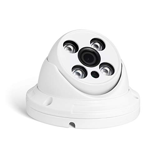 POE HD 3MP Impermeabile IP Telecamera - Revotech - H.265 1080P 2MP All'aperto 4 Array LED Telecamera di Videosorveglianza Cupola con Visione Notturna ONVIF P2P CCTV Cam con IR-Cut (I395-P Bianco)