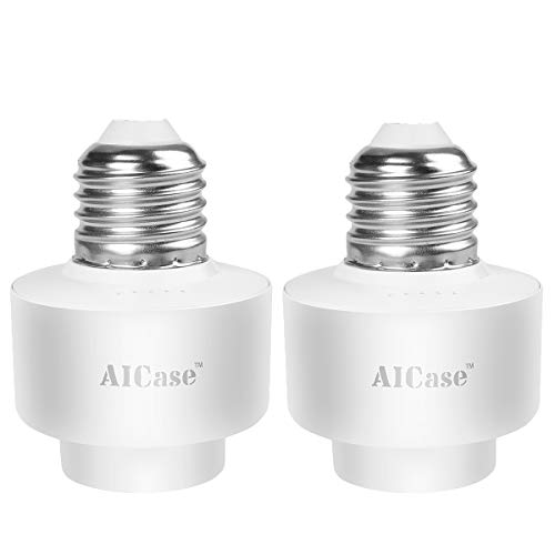 Smart WiFi E27 Light socket, Aicase Intelligent WLAN [2 pezzi] Home Remote Control Light Lamp Bulb...