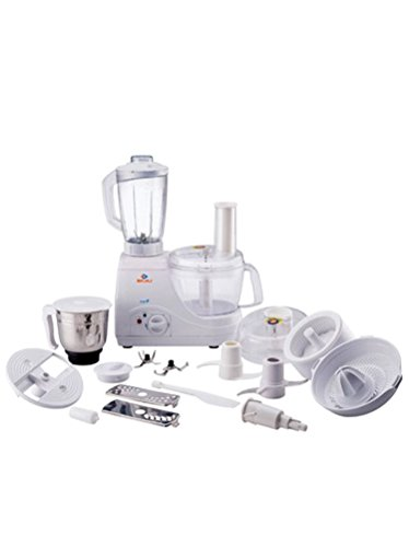 Bajaj FX-11 600 Watts Food Processor with 14 Attachments, Multicolour