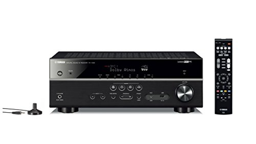 Yamaha 115W RX-V 585 7.2 AV Receiver with Dolby Atoms, DTS-X, Bluetooth, Wi-Fi, AirPlay, 4K Ultra, MusicCast Surround (Black, RXV585)