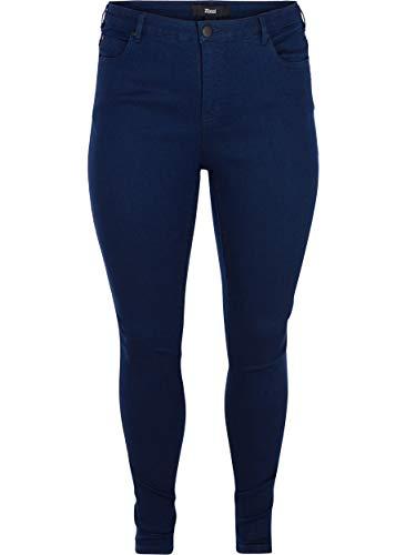 Zizzi Damen Amy Jeans Slim Jeanshose Stretch Hose, Große Größen...