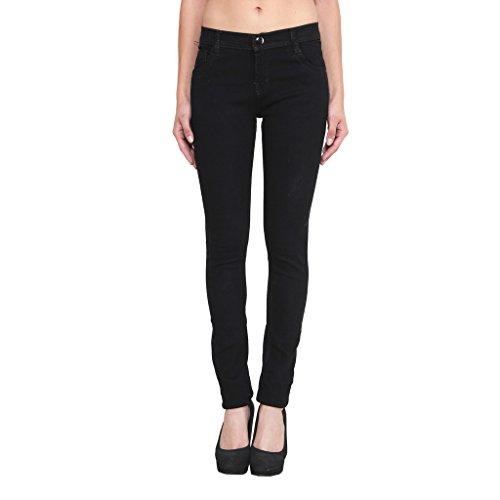 Jainish Women's Black Denim Jeans