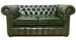 Designer Sofas4u Chesterfield-Divano 2posti Verde Antico in Offerta