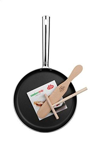 Ballarini Cookin' Italy Crepes-Set, Alluminio, Nero, Diametro 25 cm