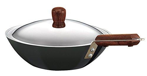 Hawkins Futura L 21 Hard Anodised Flat Bottom Deep-Fry Pan with Steel Lid, 2.5 litres