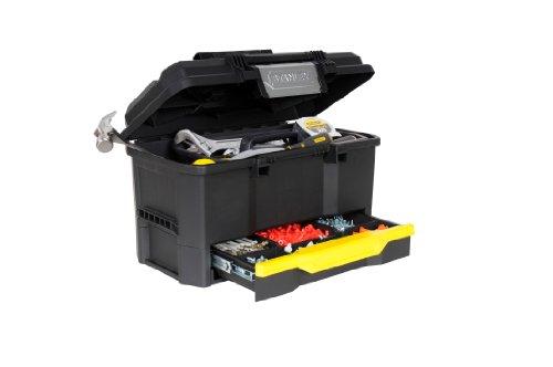 Stanley Werkzeugkiste leer aus Kunststoff 1-70-316 / Werkzeugkoffer mit integrierter Schublade für Kleinteile / Maße: 48.1 x 27.9 x 28.7 cm