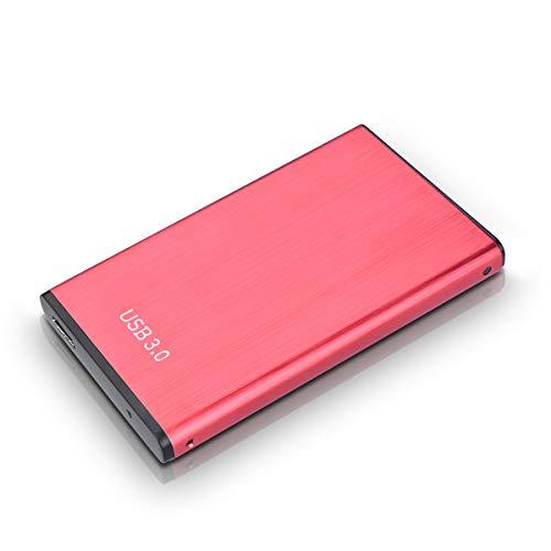 Hunty Hard Disk 2TB Esterno, USB3.0 Hard Disk Esterno per PC, Mac, MacBook, Xbox One(2TB, Rosso-AA)