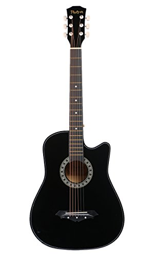 Photron Acoustic Guitar, 38 Inch Cutaway, PH38C/BK with Picks Only, Black (Without Bag, Strap and Extra Strings)