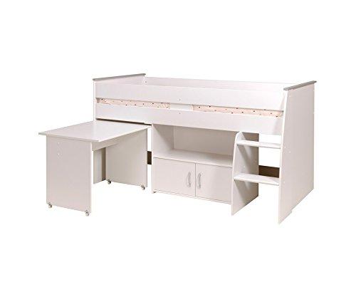 Parisot 2270Comb Set Möbel Kinderzimmer-Reverse Comb Weiß Megeve Holz