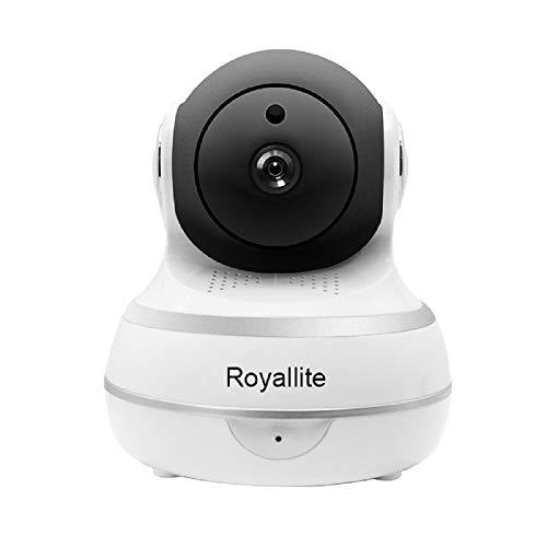 Royallite Wireless IP Security Smart Camera, Nanny Camera, 1080P WiFi Home Surveillance Camera Indoor Dome Camera, Motion Tracker, Auto-Cruise, Night Vision, Two-Way Talk Elder/Pet/Office/Baby