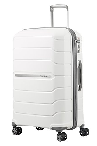 SAMSONITE Flux - Spinner 68/25 Expandable Bagaglio a mano, 68 cm, 95 liters, Bianco (White)