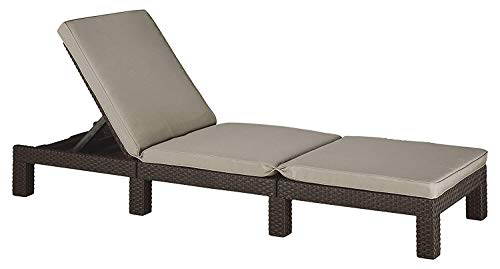 This Daytona sunbed is manufactured by Keter which is well known brand in the gardening space and most of there products have proved excellent and this sung lounger is no different. Its frame is made of rattan that is weather-resistant, low maintenance and durable, while the top features a splendid taupe cushion.