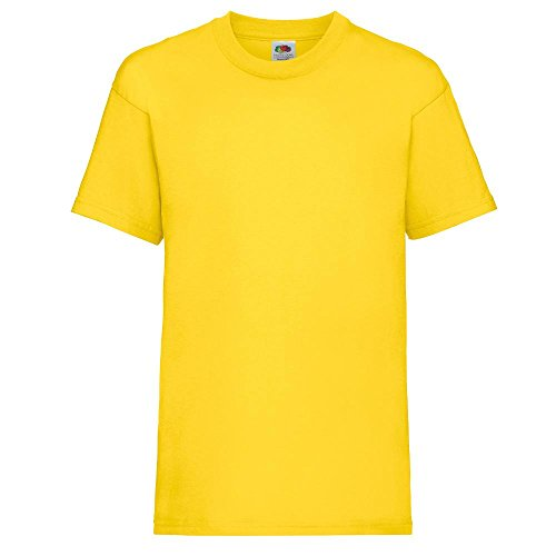 Fruit of the Loom - Kids Value Weight T / Yellow, 104 104,Yellow