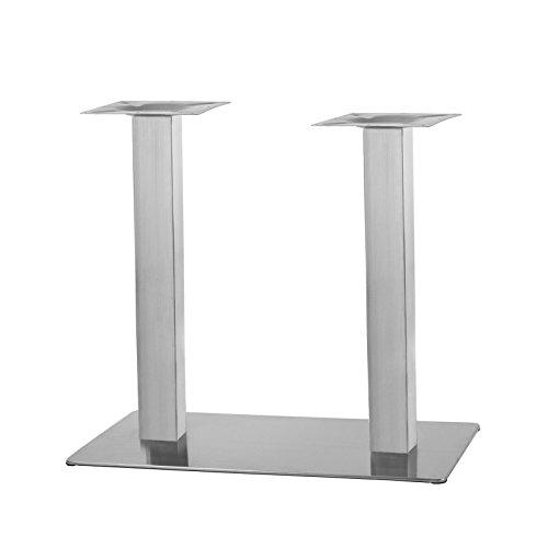 """Tischgestell Doppelt Rechteck aus Edelstahl Modell:\""""Q\"""""""