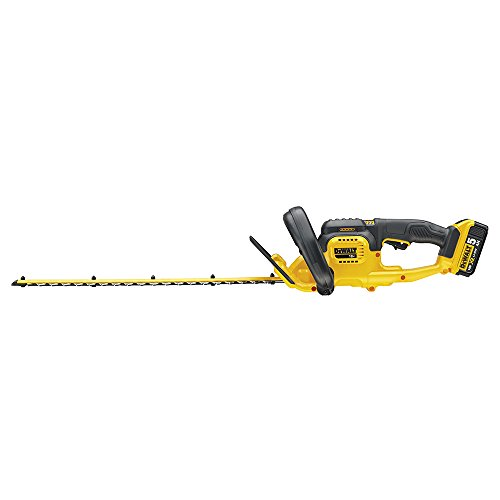 To begin with, the hedge trimmer is compact and lightweight, yet robust enough to withstand the abuse that comes with trimming tough and large hedges. Its blade is 55cm long with 19mm cutting gap for uniform cuts, while dual action laser cutting reduces jamming and help prolong the equipment's life.