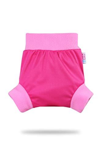 Rainbow Pull Up Cover Petit Lulu | Taglia S | Con Bordi In Pile | Riutilizzabile e lavabile | Pannolini lavabili | Pannolino di stoffa | Prodotto in Europa (Pink)