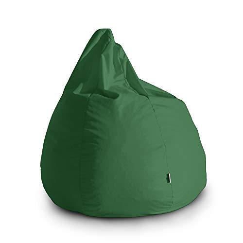 Avalon Pouf Poltrona Sacco Grande Bag L Jive 80x80x100cm Made in Italy in Tessuto antistrappo Imbottito Colore Verde Prato