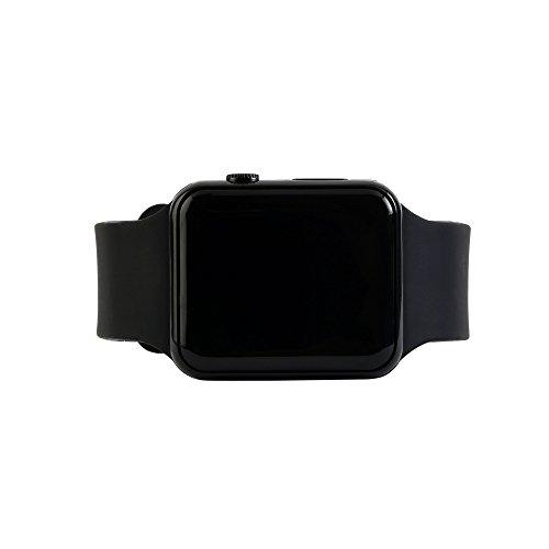 Felix LED Digital Rubber Belt Square Watch Black
