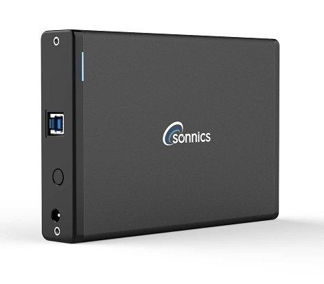 Sonnics desktop Hard-Disk esterno USB 3.0ad alta velocità per Xbox One & PS4 Nero 1.5TB