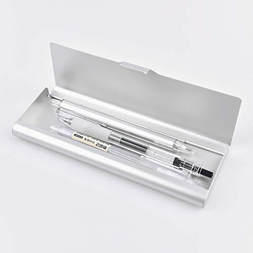 Astuccio portapenne Kingt in metallo astuccio portapenne argento lucido semplice semplice e moderno...