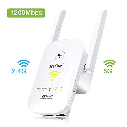MECO AC1200 Ripetitore WiFi Wireless Range Extender Universale Repeater Wi-Fi Amplificatore Segnale...