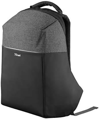 Trust Nox Anti-diebstahl Laptop Rucksack (14 bis 15,6 zoll Anti Theft Backpack) schwarz