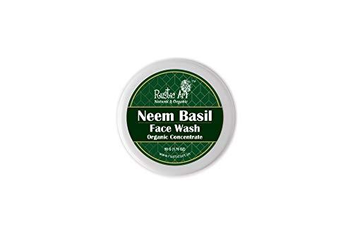 Rustic Art Organic Neem Basil Face Wash Concentrate for Deep Cleansing   Anti-Bacterial Anti-Fungal   50gm