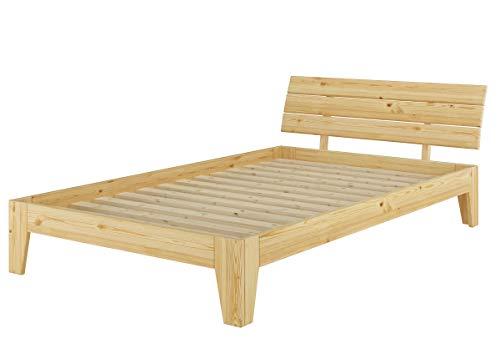 Erst-Holz Solido Letto in Pino massello 120x200 Anche per Ragazzi con doghe rigide 60.62-12