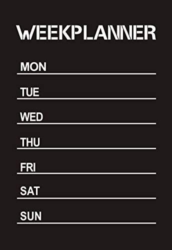Weekly Planner Calendar MEMO Lavagna Lavagna Adesivo da parete in vinile Decal 45cmX60cm