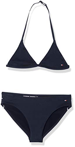 Tommy Hilfiger Mädchen Triangle Set Badebekleidungsset, Blau (Navy Blazer 416), 140 (Herstellergröße: 8-10)