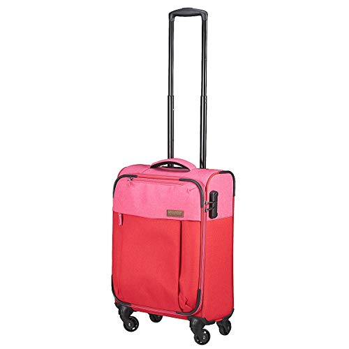 Travelite Leichtes lässiges  Surferlook Trolley Koffer 55 cm, 32 L, Rot/Pink