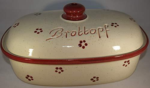Brottopf (Steinzeug 'Rubin' * Kleiraba-Steinzeug wird bei ca.1.250 °C in energiesparenden Erdgas-B)