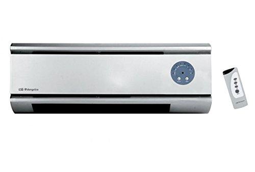 Orbegozo SP 5020 – Calefactor de pared Split con mando a distancia, 2000 S de potencia, elementos calefactables cerámicos PTC y 2 niveles de funcionamiento