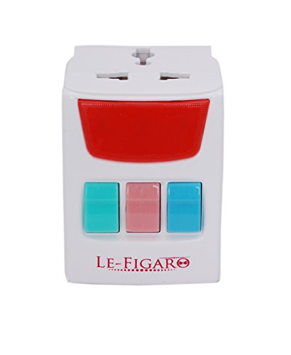 Le Figaro Multi Plug with 3 Switches, 3 Sockets and Indicator