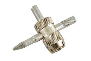 AutoPower 4-Wege-Reifenventil-Reparaturwerkzeug für Auto, Van, Fahrrad, Motorradreifen 16
