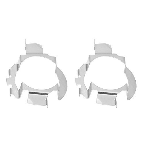 Qiilu QL04602 1 Coppia H7 LED Supporto Fari per Adattatore