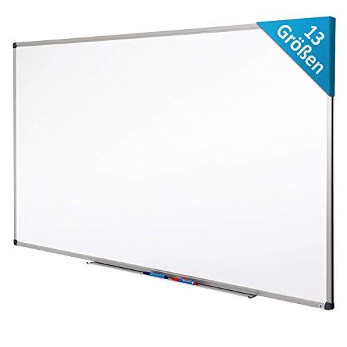 MOB Whiteboard - Sieger Preis-Leistung (Note 1,4) - 13 Größen - magnetisch und beschreibbar - Magnettafel Magnetwand - mit Aluminium-Rahmen, Stiftablage - für Hoch- und Querformat - 80 x 110 cm
