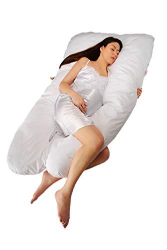 Sanggol maternité soutien oreiller, coussin de soutien de la grossesse, soins infirmiers oreiller, blottir corps oreiller avec taie d'oreiller coton luxueux zippé - GROS