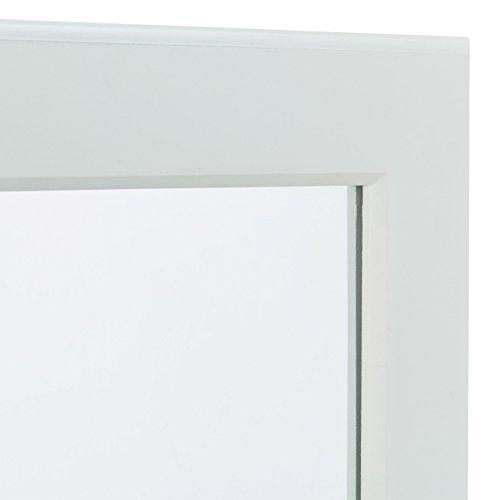 Relaxdays Schmuckschrank mit Spiegel abschließbar, Spiegelschrank groß hängend für Tür, HxBxT: 120 x 38,5 x 10 cm, weiß - 5