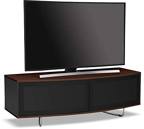 Centurion Supports Caru Gloss Black and Walnut Beam-Thru Remote Friendly Super-Contemporaneo...