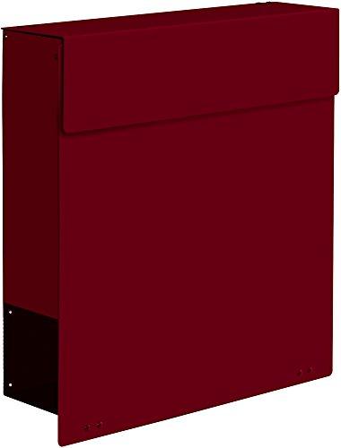Frabox Design Briefkasten NAMUR Stahl lackiert, RAL 3004 Purpurrot