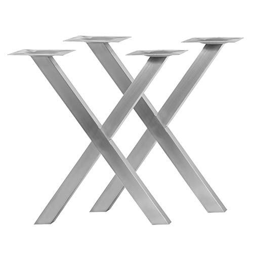 Tischgestell aus Edelstahl Modell X Setpreis (1 Paar)