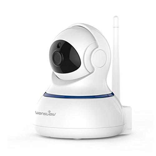 Caméra de Surveillance 1080P Wansview Caméra IP, Caméra de Sécurité avec Vision Nocturne, Audio Bidirectionnel, PTZ Q3s Blanche
