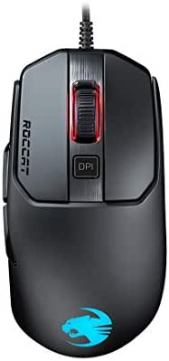 Roccat Kain 120 AIMO RGB Gaming Maus (16.000 Dpi Owl-Eye Sensor, 89G leicht, Titan Click Technologie) Schwarz