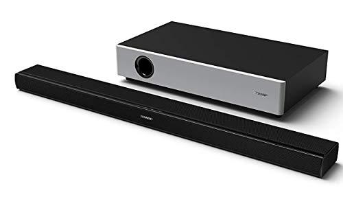 Sharp Soundbar HT-SBW160, 2.1, Ultra Slim, wireless Home Theatre, flat subwoofer, Dynamic Range Control, HDMI ARC-CEC, Bluetooth, Telecomando, 90 cm, 360 W